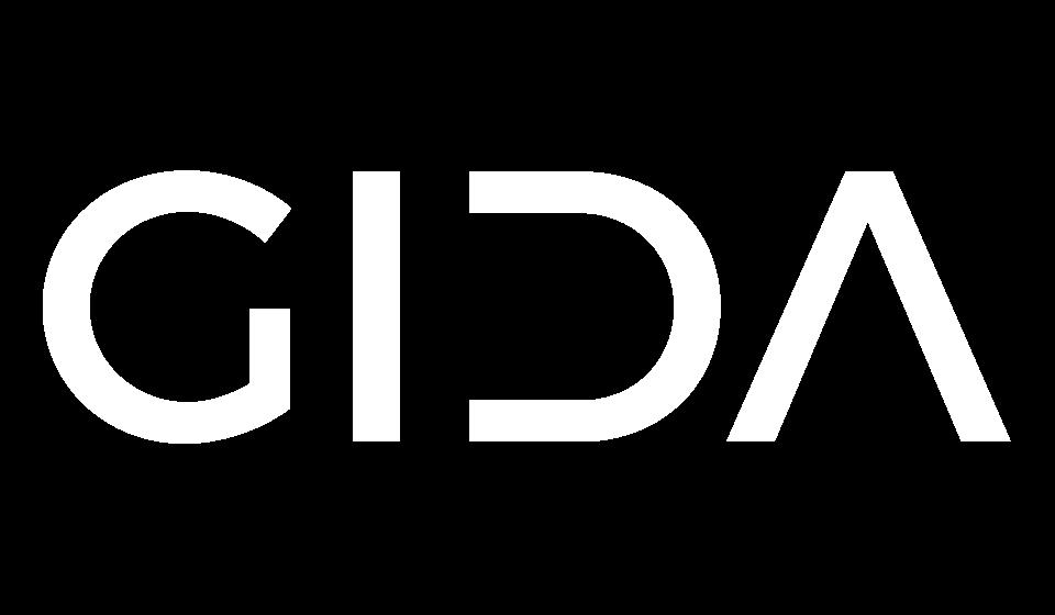 Logotipo GIDA blanco